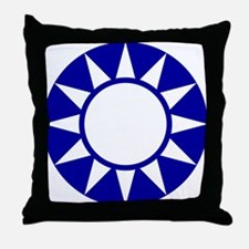 Taiwan Roundel Throw Pillow