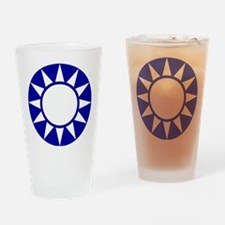Taiwan Roundel Drinking Glass