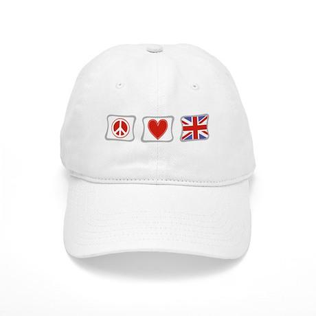 Peace Love & United Kingdom Cap