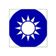 "Taiwan Roundel Square Sticker 3"" x 3"""