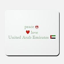 Peace Love and Emirates Mousepad