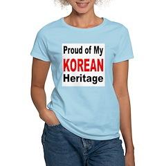 Proud Korean Heritage Women's Pink T-Shirt