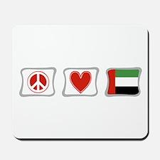 Peace Love and Emerates Mousepad