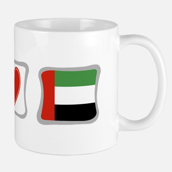 Peace Love and Emerates Mug