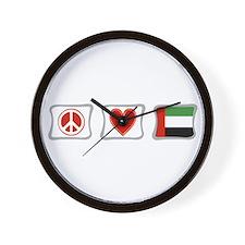 Peace Love and Emerates Wall Clock