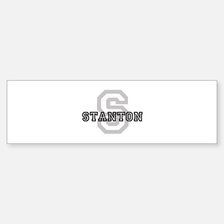 Stanton (Big Letter) Bumper Bumper Bumper Sticker