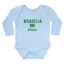 Brasilia Brazil Designs Long Sleeve Infant Bodysui