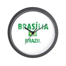 Brasilia Brazil Designs Wall Clock