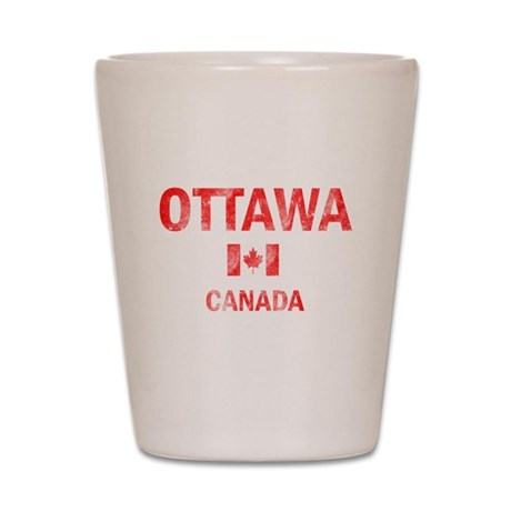 Ottawa Canada Designs Shot Glass