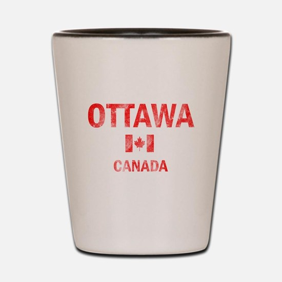 Ottawa Canada Designs Shot Glass