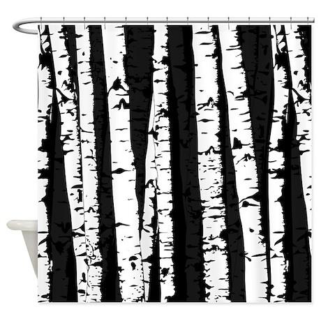 Queen Birch Shower Curtain