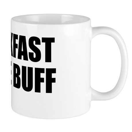 Breakfast in the buff mug