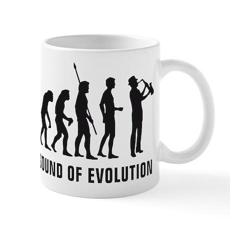 evolution saxophone player Mug