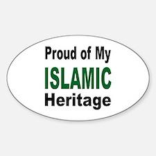 Proud Islamic Heritage Oval Decal