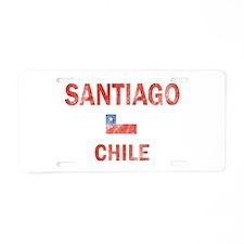Santiago Chile Designs Aluminum License Plate