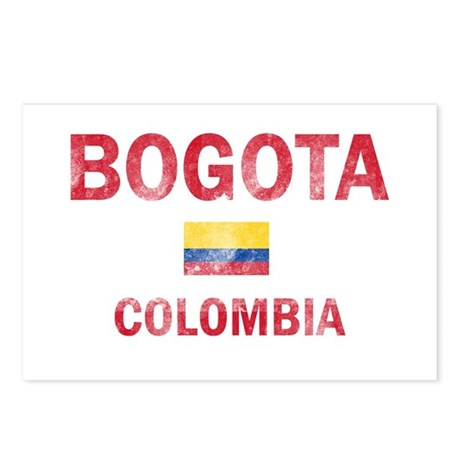 Bogota Colombia Designs Postcards (Package of 8)
