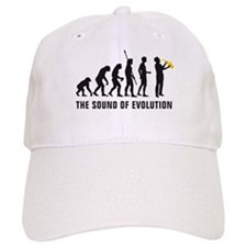 evolution saxophone player Baseball Cap