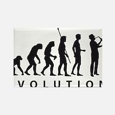 evolution saxophone Rectangle Magnet