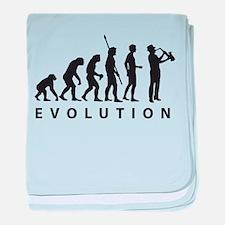 evolution saxophone baby blanket