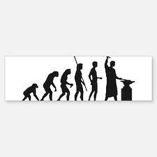 evolution blacksmith Sticker (Bumper)