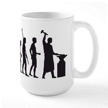 evolution blacksmith Large Mug