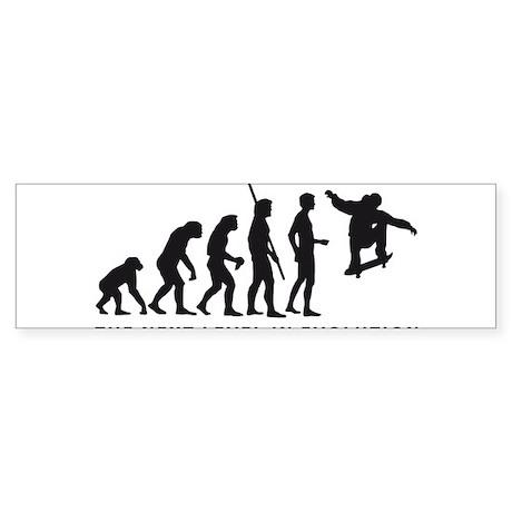 evolution skater Sticker (Bumper)