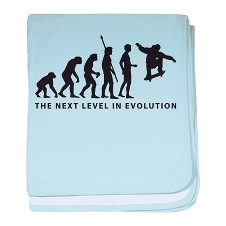 evolution skater baby blanket