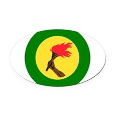 Zaire Roundel Oval Car Magnet