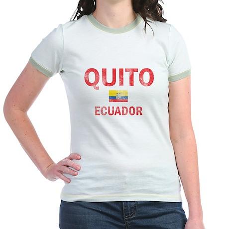 Quito Ecuador Designs Jr. Ringer T-Shirt