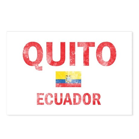 Quito Ecuador Designs Postcards (Package of 8)