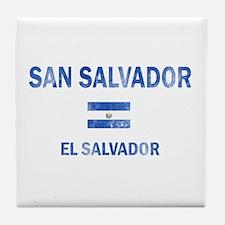 San Salvador El Salvador Designs Tile Coaster