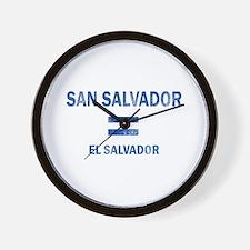 San Salvador El Salvador Designs Wall Clock