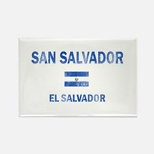 San Salvador El Salvador Designs Rectangle Magnet