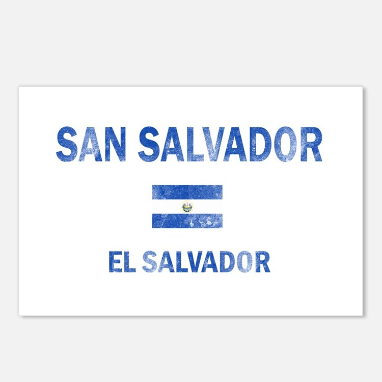 San Salvador El Salvador Designs Postcards (Packag