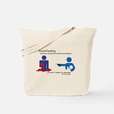 Breastfeeding Zombie Apocalypse Tote Bag