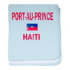 Port-au-Prince Haiti Designs baby blanket