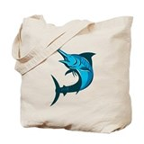 Retro swordfish Canvas Bags
