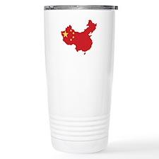 Flag Map of China Travel Mug