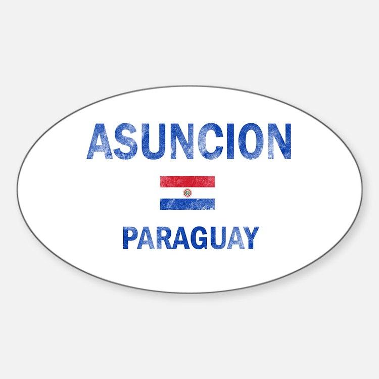 Asuncion Paraguay Designs Sticker (Oval)