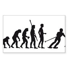 evolution skiing Decal