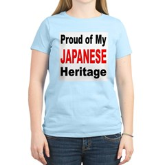 Proud Japanese Heritage (Front) Women's Pink T-Shi