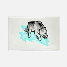 Wolf Rectangle Magnet