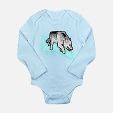 Wolf Long Sleeve Infant Bodysuit