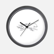 Wolf Flames Wall Clock