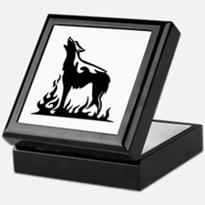 Wolf Flames Keepsake Box