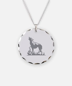 Wolf Flames Necklace