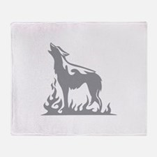 Wolf Flames Throw Blanket