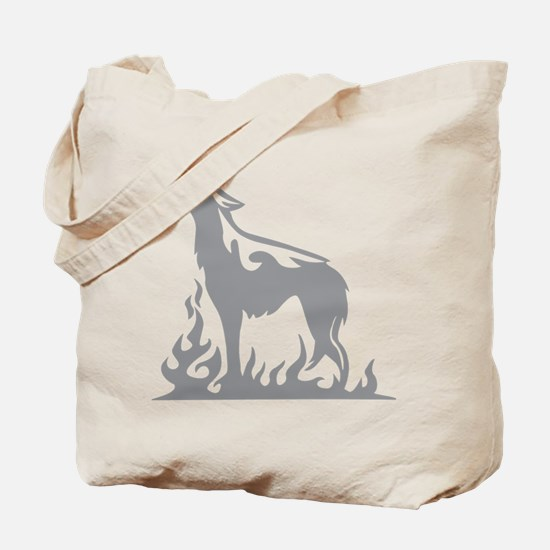 Wolf Flames Tote Bag