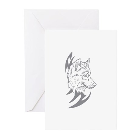 Tribal Wolf Greeting Cards (Pk of 20)