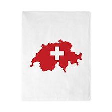 Flag Map of Switzerland Twin Duvet